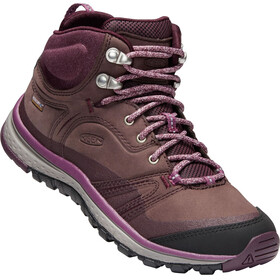 Keen Terradora Leather WP Mid Shoes Women peppercorn/wine tasting